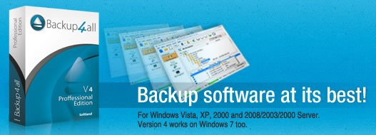 Windows資料備份軟體 Backup4all Professional 4.8