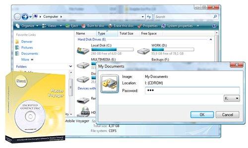 密碼保護DVD與CD光碟(USB隨身碟) Master Voyager 2.101