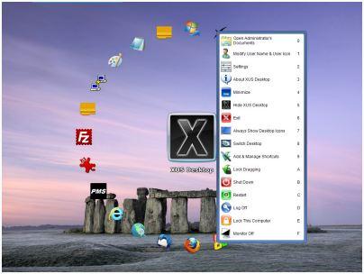 易於整理您的Windows桌面圖示 XUS Desktop Pro 2.0.87