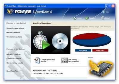 讓您的電腦運行速度更快 PGWARE SuperRam 6