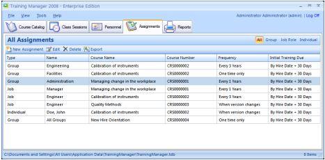 輕鬆地跟踪員工安全培訓人力資源培訓 Kaizen Software Training Manager 2012 Enterprise Edition v1.0.1175