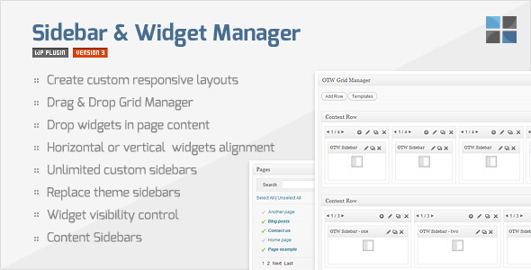 【WordPress 外掛程式】Sidebar & Widget Manager