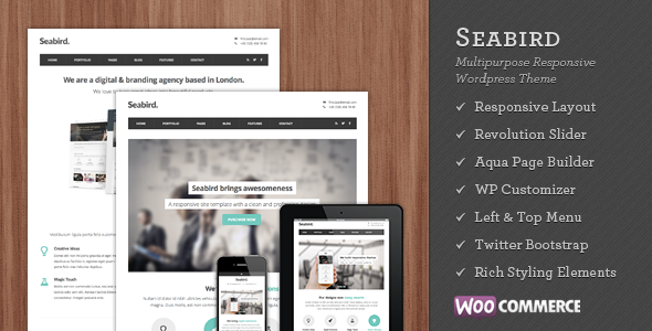 【WordPress Theme 主題布景】Seabird v2.0.1 – ThemeForest Multipurpose Responsive