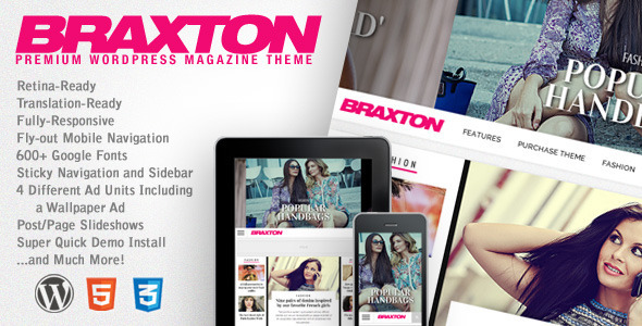 【WordPress Theme 主題布景】Braxton v1.0.8 – ThemeForest Premium WordPress Magazine Theme