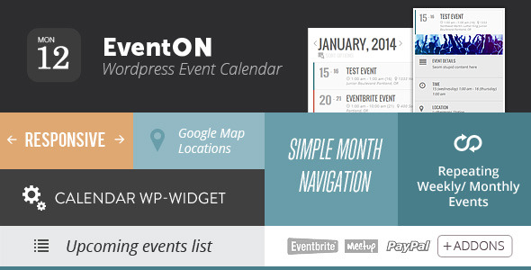 【WordPress 行事歷外掛程式】EventOn – WordPress Event Calendar Plugin