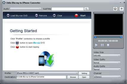 藍光DVD電影轉換器 Odin Blu-ray to iPhone Converter 8.7.1