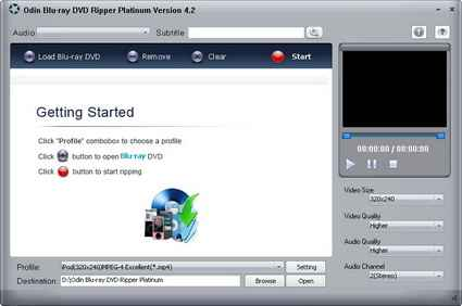 DVD視訊轉換軟體 Odin Blu-ray DVD Ripper Platinum 8.7.1