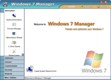 系統工具 Windows 7 Manager 4.1.3 改善.調整.清理的Windows 7
