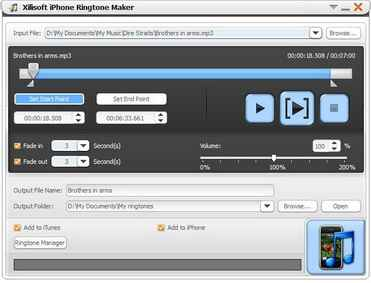 視訊/音訊轉換iPhone M4R 鈴聲 Xilisoft iPhone Ringtone Maker v3.0.7