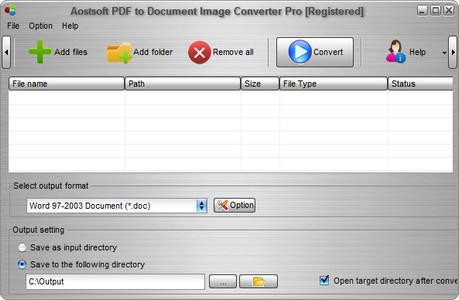 (圖像轉換器)Aostsoft PDF to Document Image Converter Pro 3.9.1
