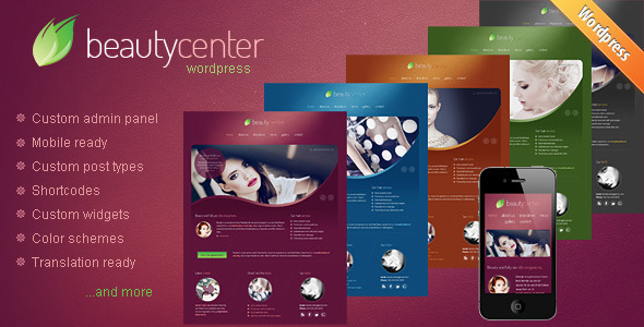 【WordPress Theme 主題布景】 Beauty Center v2.0 – ThemeForest Responsive WordPress Theme 模版