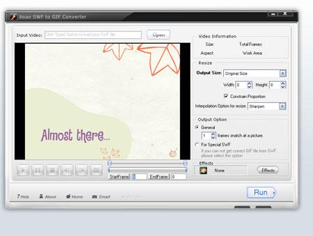 【將 Flash SWF 轉成 GIF】Aoao SWF to GIF Converter v3.1 正式版